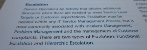 ITIL Escalation Definition